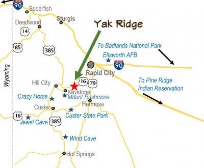 Yak Ridge Area Map HI Res